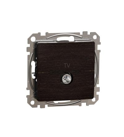 SDD181471 TV zásuvka koncová 4dB, Wenge, Schneider electric