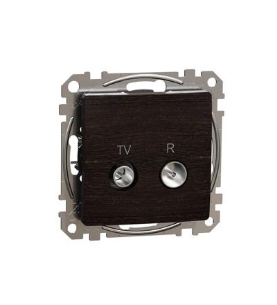 SDD181474R TV R zásuvka průběžná 7dB, Wenge, Schneider electric