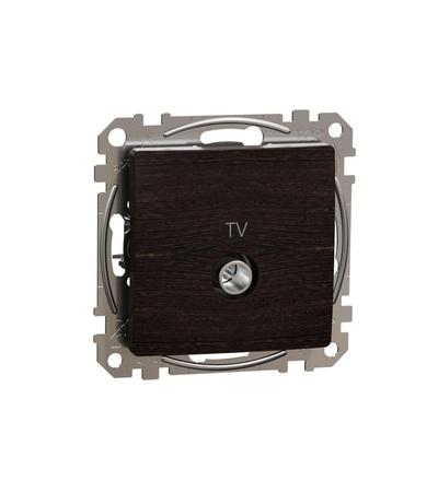 SDD181474 TV zásuvka průběžná 7dB, Wenge, Schneider electric