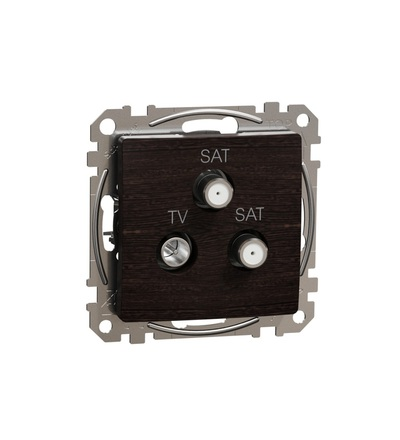 SDD181481S TV-SAT-SAT zásuvka koncová 4dB, Wenge, Schneider electric