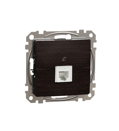 SDD181491 Telefonní zásuvka 1xRJ11, Wenge, Schneider electric
