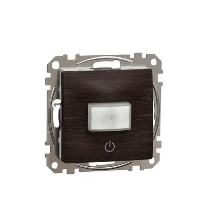 SDD181504 Pohybové čidlo se spínačem 10A, Wenge, Schneider electric