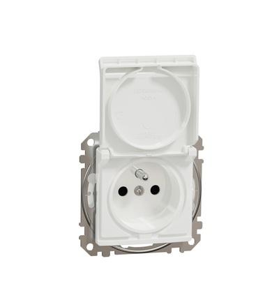 SDD211013 Zásuvka 230V 16A IP44 šroubová, Bílá, Schneider electric