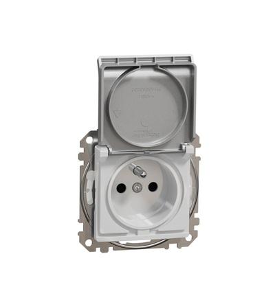 SDD213013 Zásuvka 230V 16A IP44 šroubová, Aluminium, Schneider electric