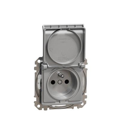 SDD213014 Zásuvka 230V 16A IP44 bezšroubová, Aluminium, Schneider electric