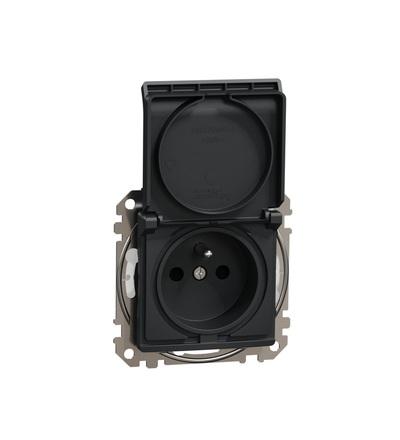 SDD214013 Zásuvka 230V 16A IP44 šroubová, Antracit, Schneider electric