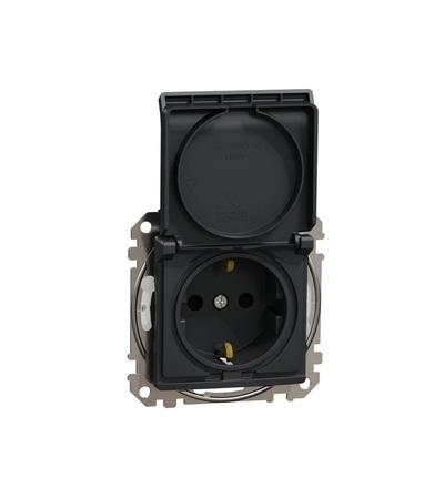 SDD214024 Zásuvka 230V 16A SCHUKO IP44, Antracit, Schneider electric