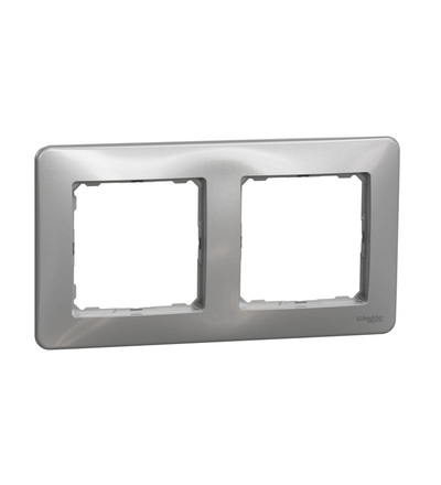 SDD313802 Rámeček dvojnásobný, Aluminium, Schneider electric
