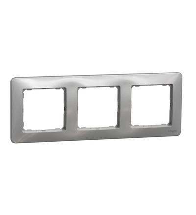 SDD313803 Rámeček trojnásobný, Aluminium, Schneider electric