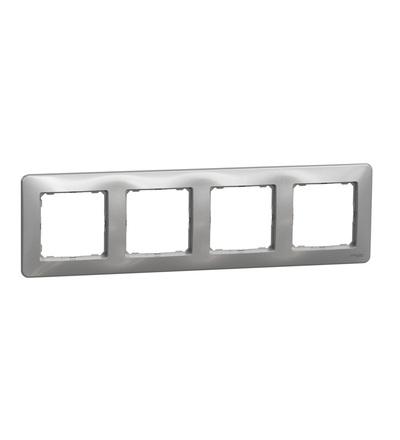 SDD313804 Rámeček čtyřnásobný, Aluminium, Schneider electric