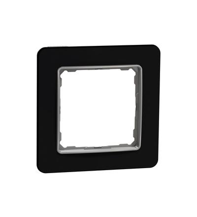 SDD361801 Rámeček jednonásobný, Tmavé Sklo, Schneider electric