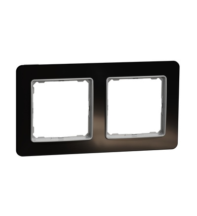SDD361802 Rámeček dvojnásobný, Tmavé Sklo, Schneider electric