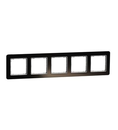 SDD361805 Rámeček pětinásobný, Tmavé Sklo, Schneider electric