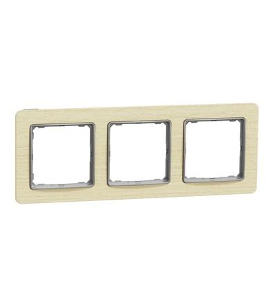 SDD380803 Rámeček trojnásobný, Bříza, Schneider electric