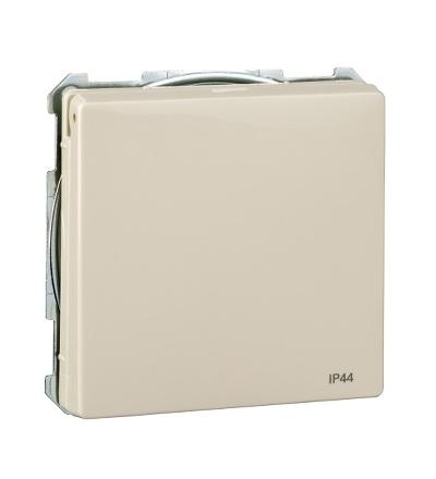 MTN2614-4044 Zásuvka IP44 se zemn.kolíkem a víčkem, S-Design, white cream, Schneider Electric