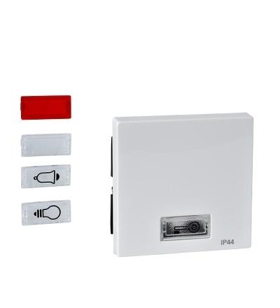 MTN432719 Kryt spínače s otvorem pro popisek, IP44, System M, polar, Schneider Electric