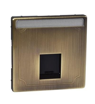 MTN466443 Centrální deska pro nosnou desku s propojovacím modulem, S-Design, antique brass, Schneider Electric