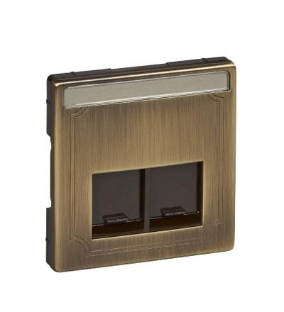 MTN466643 Centrální deska pro dvousegmentovou nosnou desku s propojovacími moduly, S-Design, antique brass, Schneider Electric