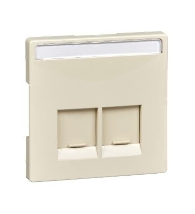 MTN466644 Centrální deska pro dvousegmentovou nosnou desku s propojovacími moduly, S-Design, white cream, Schneider Electric