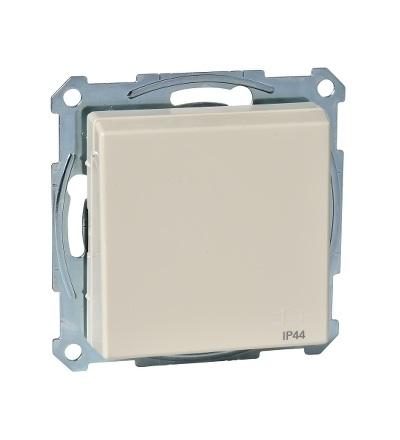 MTN2614-0344 Zásuvka IP44 se zemn.kolíkem a víčkem, System M, white cream, Schneider Electric