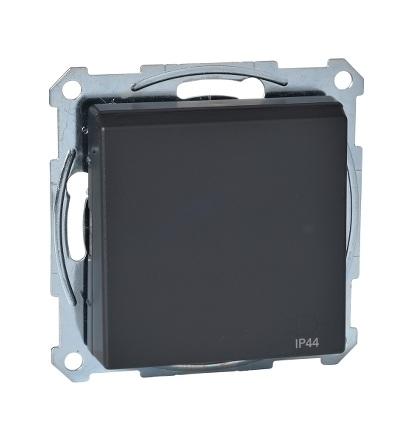 MTN2614-0414 Zásuvka IP44 se zemn.kolíkem a víčkem, System M, antracit, Schneider Electric