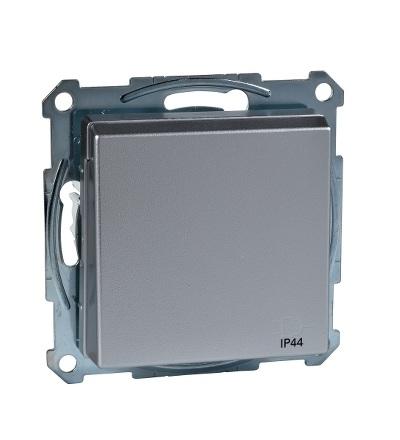 MTN2614-0460 Zásuvka IP44 se zemn.kolíkem a víčkem, System M, alu, Schneider Electric