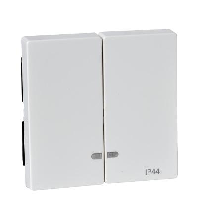 MTN3424-0319 Kryt dvousegmentový s kontrolkou, IP44, polar, System M, Schneider Electric