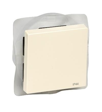 MTN432044 Kryt spínače, IP44, System M, white cream, Schneider Electric