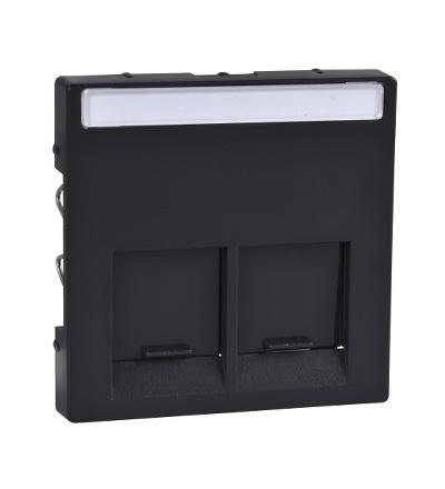 MTN466514 Centrální deska pro dvojnásobný mechanizmus datové zásuvky, System M, antracit, Schneider Electric