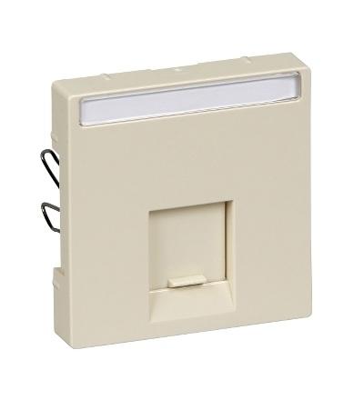 MTN469844 Centrální deska pro mechanizmus datové zásuvky RJ45, white cream, System-M, Schneider Electric