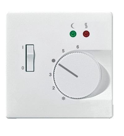 MTN537519 Centrální deska pro mechanismus podlažního termostatu se spínačem, S-Design, polar, Schneider Electric