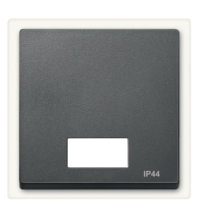 MTN433714 Kryt spínače s otvorem pro popisek, IP44, System M, antracit, Schneider Electric