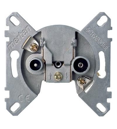 MTN466099 Mechanismus koncové anténní zásuvky, 2 výstupy R/TV+SAT, Schneider Electric