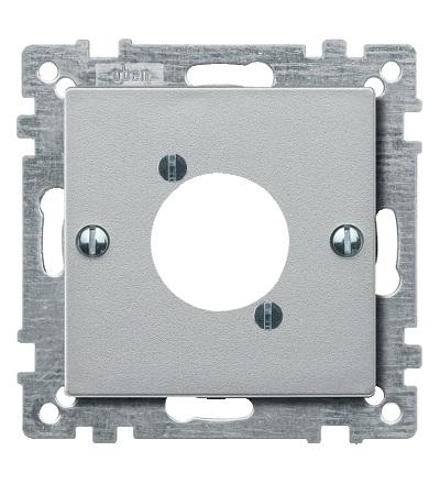 MTN468960 Centrální deska pro audio zástrčku XLR, System M, alu, Schneider Electric