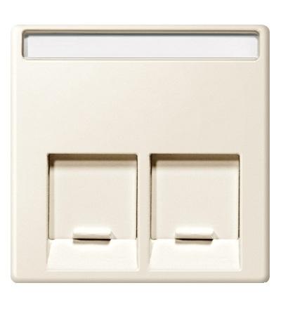 MTN469944 Centrální deska pro dvojnásobný mechanizmus datové zásuvky, System M, white cream, Schneider Electric