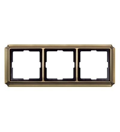 MTN483343 Rámeček Antique, trojnásobný, Antique Brass, Schneider Electric