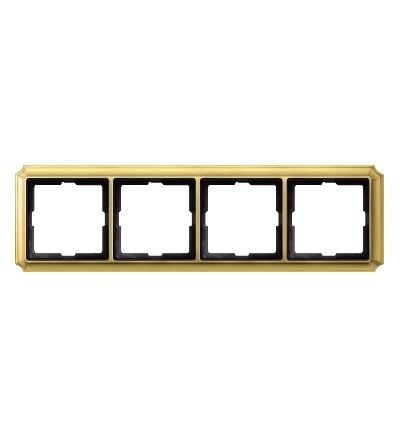 MTN483421 Rámeček Antique, čtyřnásobný, Brass, Schneider Electric