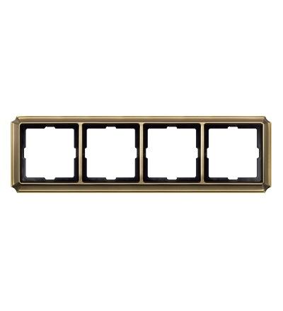 MTN483443 Rámeček Antique, čtyřnásobný, Antique Brass, Schneider Electric