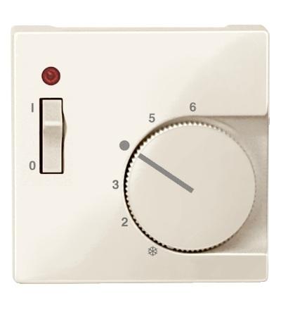 MTN534844 Centrální deska pro mechanismus ovládání teploty místnosti se spínačem, System M, white cream, Schneider Electric