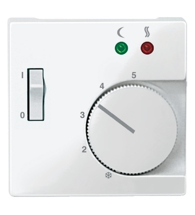 MTN534919 Centrální deska pro mechanismus podlahového termostatu se spínačem, System M, polar, Schneider Electric