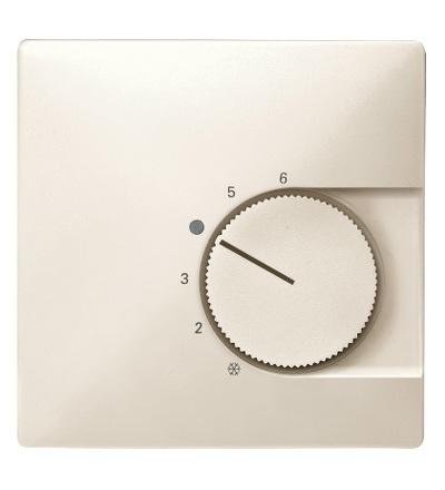 MTN537444 Centrální deska pro mechanismus ovládání teploty místnosti s přepínacím kontaktem, S-Design, white cream, Schneider Electric