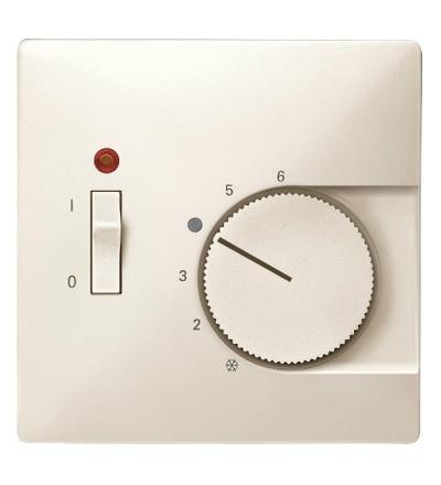 MTN539744 Centrální deska pro mechanismus ovládání teploty místnosti se spínačem, S-Design, white cream, Schneider Electric