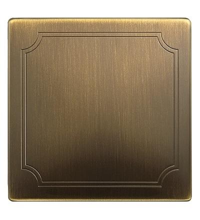 MTN573743 Kryt tlačítkového stmívače, S-Design, antique brass, Schneider Electric