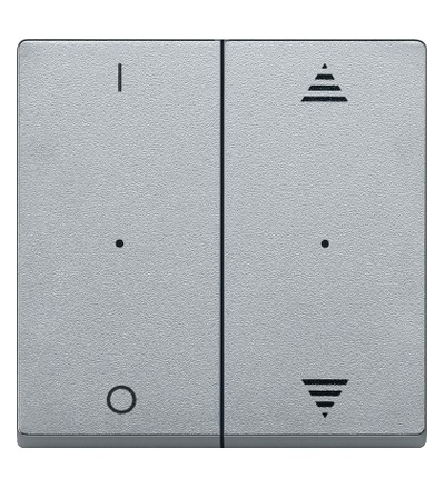 MTN625660 Kryty pro 2-násobný tlač. modul, 1/0+šipky, Aluminium, System M, Schneider Electric