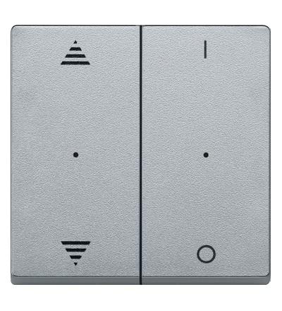 MTN625760 Kryty pro 2-násobný tlač. modul, šipky+1/0, Aluminium, System M, Schneider Electric