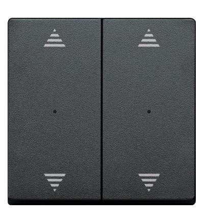 MTN625814 Kryty pro 2-násobný tlač. modul, 2xšipky, Antracit, System M, Schneider Electric