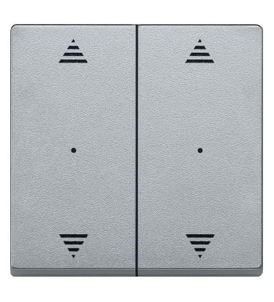 MTN625860 Kryty pro 2-násobný tlač. modul, 2xšipky, Aluminium, System M, Schneider Electric
