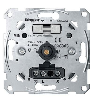 MTN5131-0000 Mechanismus stmívače pro ohmickou zátěž (40-400 W), Schneider Electric