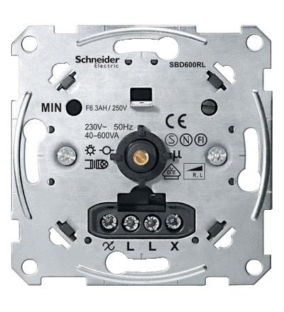 MTN5133-0000 Mechanismus stmívače pro ohmickou/induktivní zátěž (40-600 W/VA), Schneider Electric