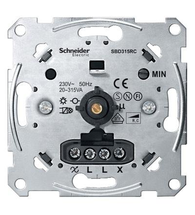 MTN5136-0000 Mechanismus otočného stmívače pro kapacitní zátěž (20-315 W), Schneider Electric